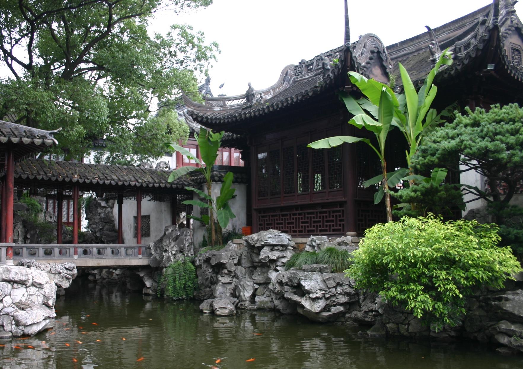 Жилище в традиционном китайском стиле. Фото