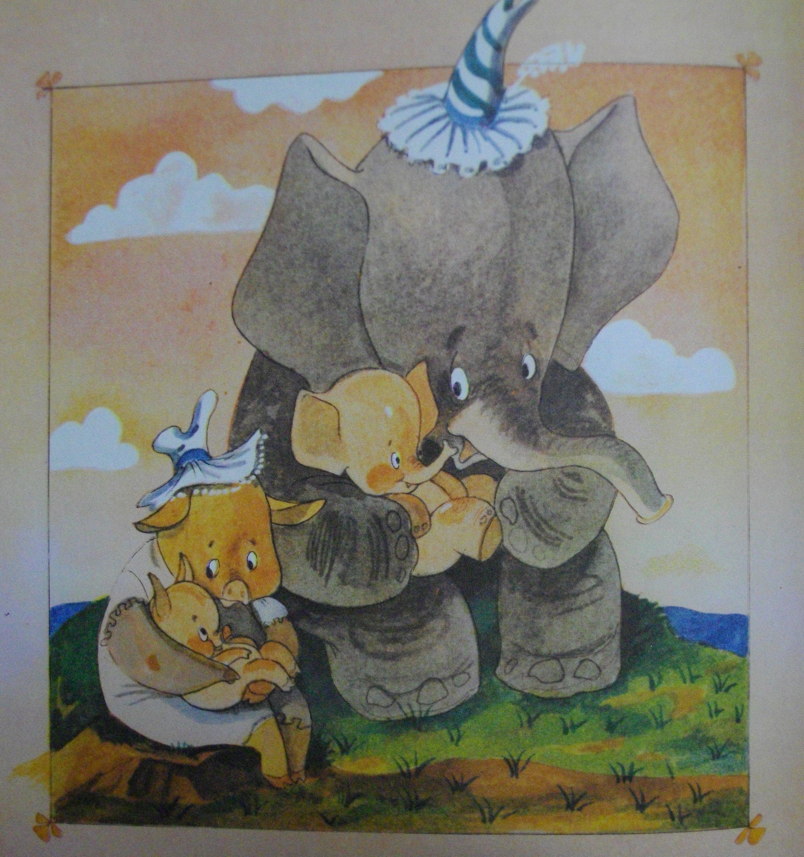 Слонёнок и Поросёнок с тех пор решили больше не драться